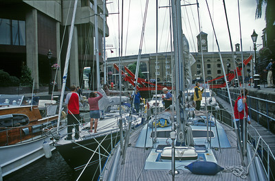 Cloud Nine, in Departure lock, St. Katherine's dock, London