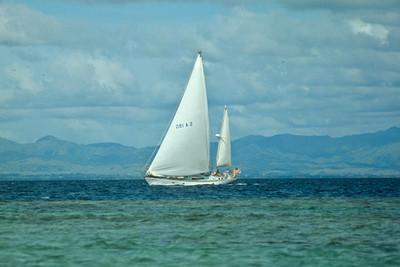 Cloud Nine sailing off Vanua Levu, Fiji