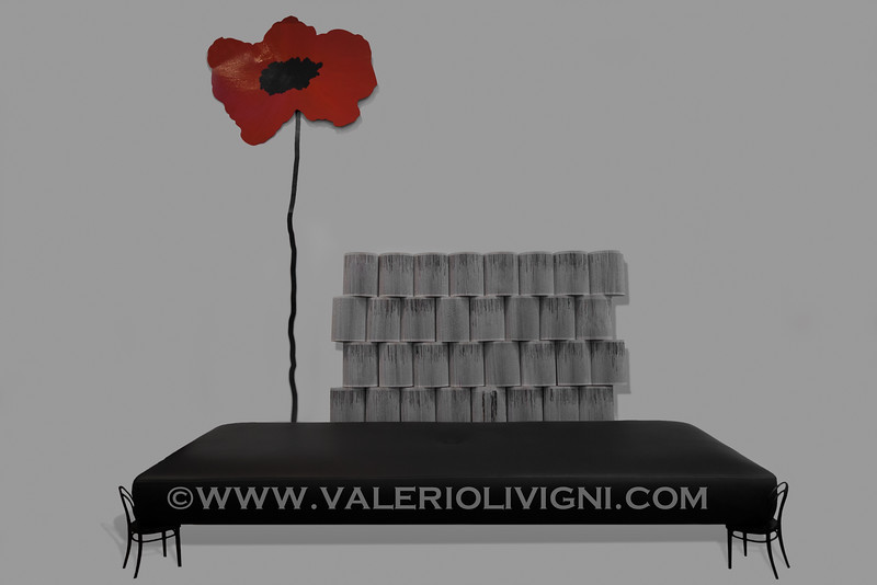 Folded books by Crizu + 56 Day-Bed by Ron Gilad for Adele-C  + Wall suspended Poppy by Franca Silva for Fioridilatta