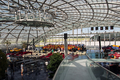 RedBull Hangar-7 - School kids practicing for a performance, Salzburg, Austria