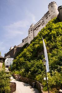 Walk up to Hohensalzburg, Salzburg, Austria
