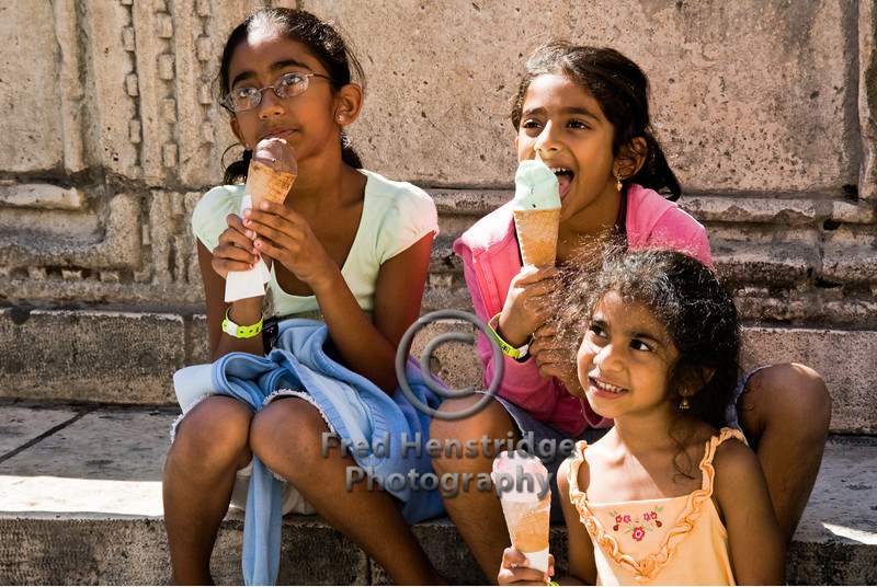 Kids love ice cream, Dubrovnik, Croatia
