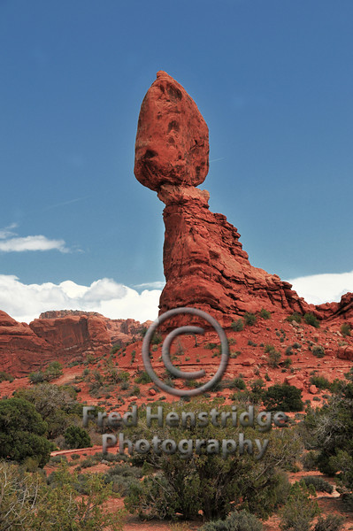 The world famous Balanced Rock at Arches National Park