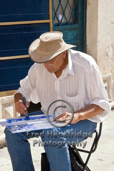 Street artist, Dubrovnik, Croatia