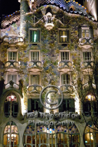 Casa Batlló, By Night, Barcelona, Spain