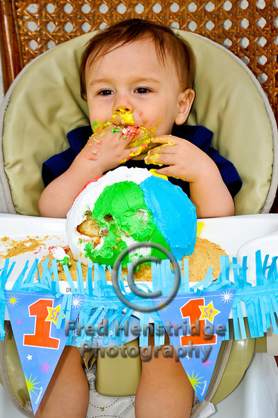 Takeo's first birthday