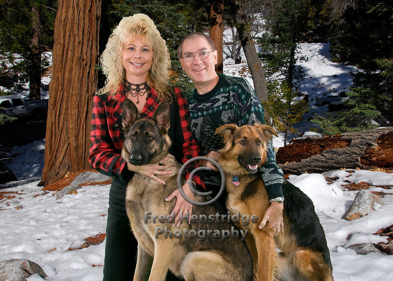 Jackie and her dogs