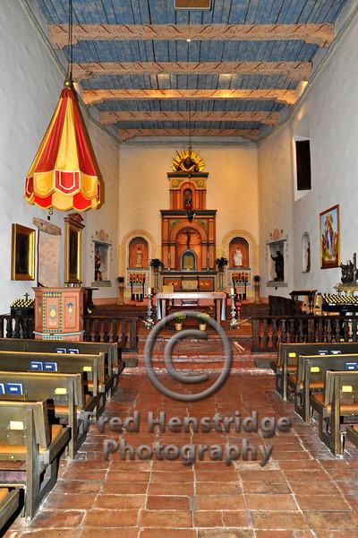 Main alter in the church of San Diego de Alcala