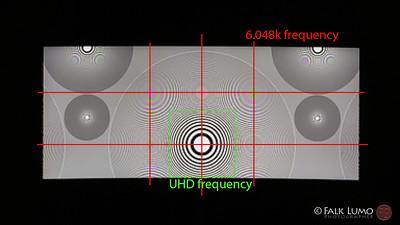 Nikon Z6 Prores RAW Zoneplate test