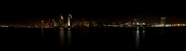 San Diego Skyline at Night-2