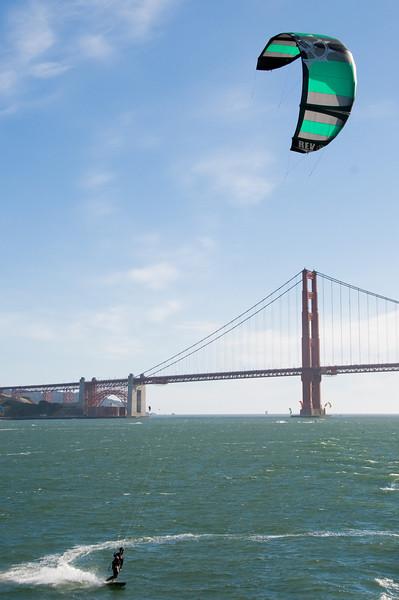 Kite Surfers near Golden Gate Bridge - San Francisco, CA