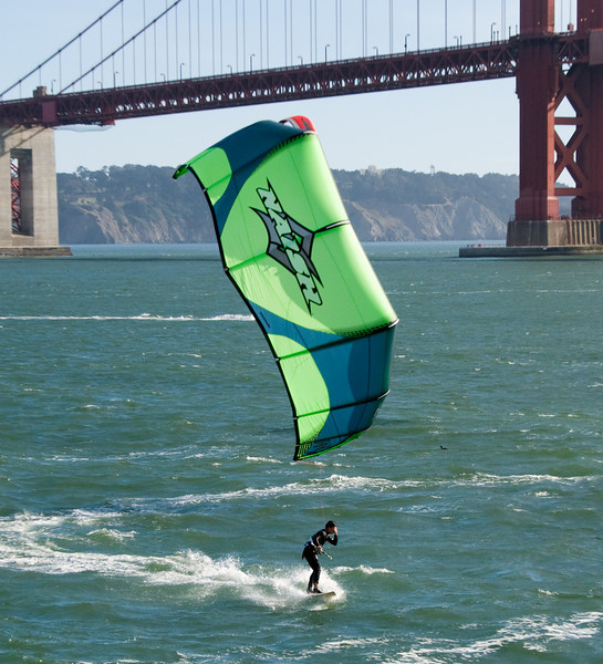 Kite Surfers near Golden Gate Bridge - San Francisco, CA