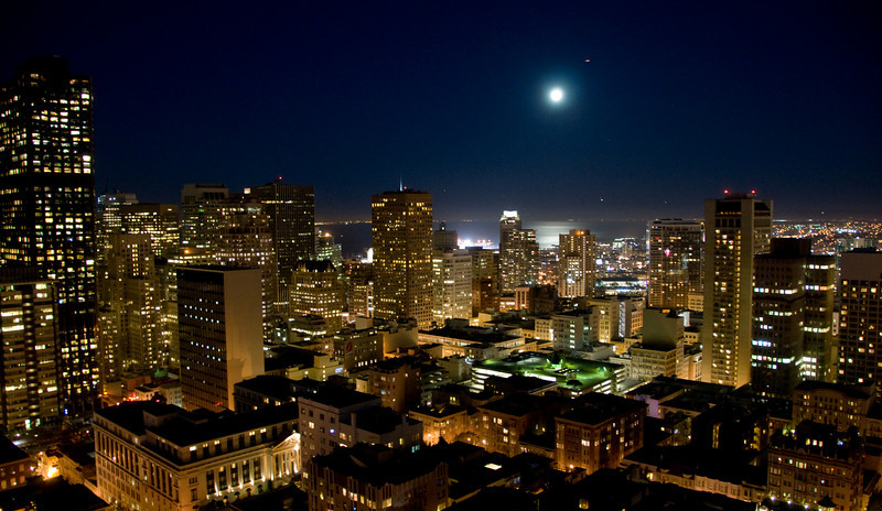 View from our room on the 20th floor at Fairmont Hotel San Francisco
