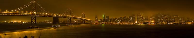San Francisco from Treasure Island on a foggy night