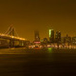 San Francisco from Treasure Island on a foggy night