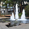 Fountains Near Base of Transamerica Building in San Francisco CA