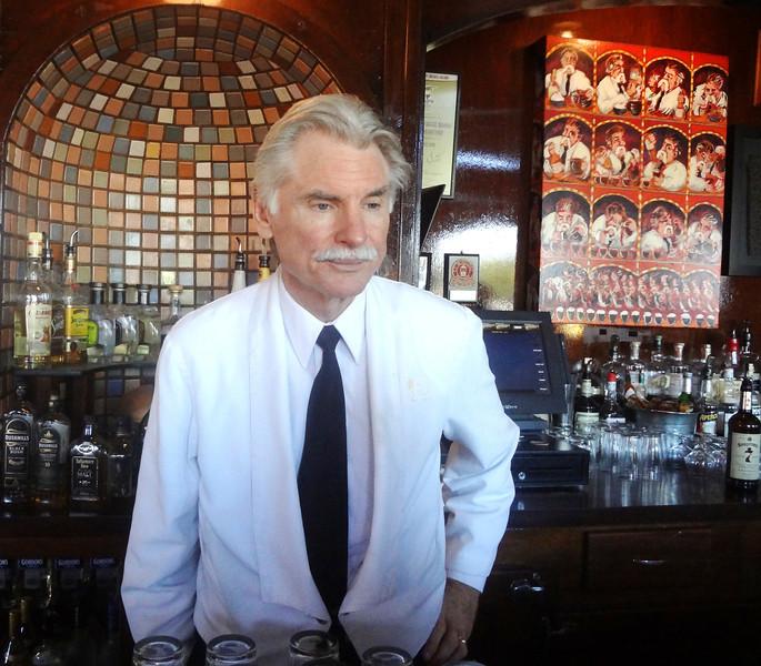 Famous Bar Tender Larry Nolan at the Buena Vista Cafe in San Francisco CA