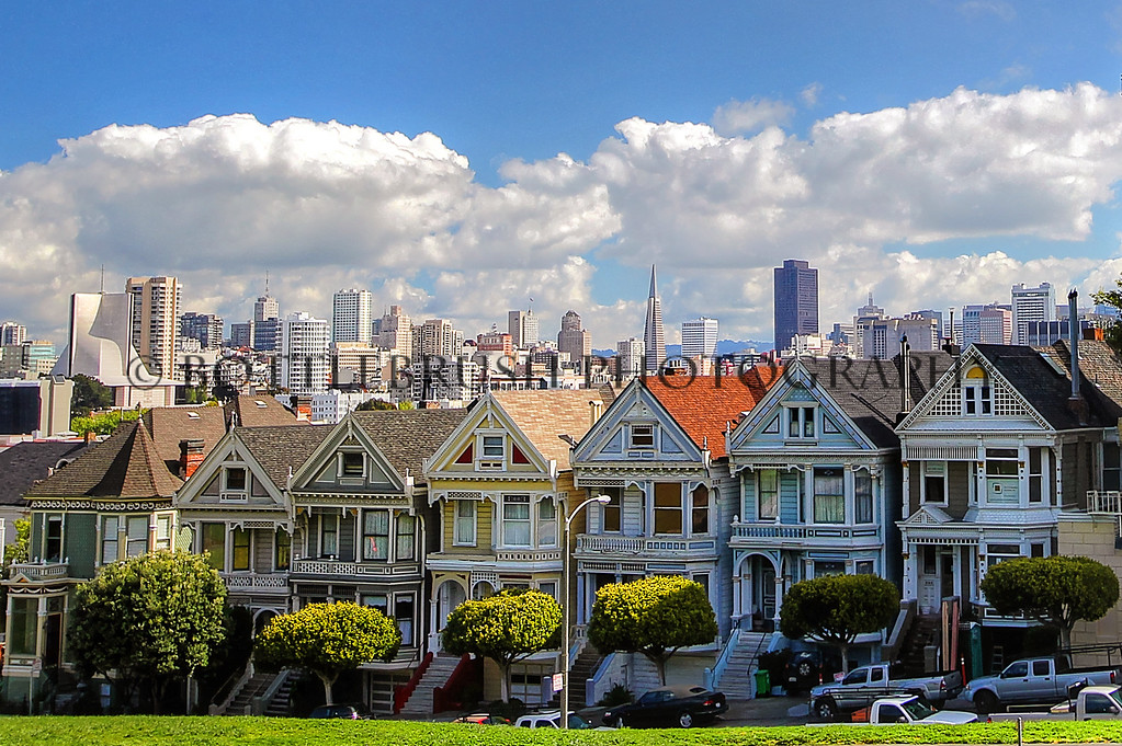 The Painted Ladies, San Francisco, California.
