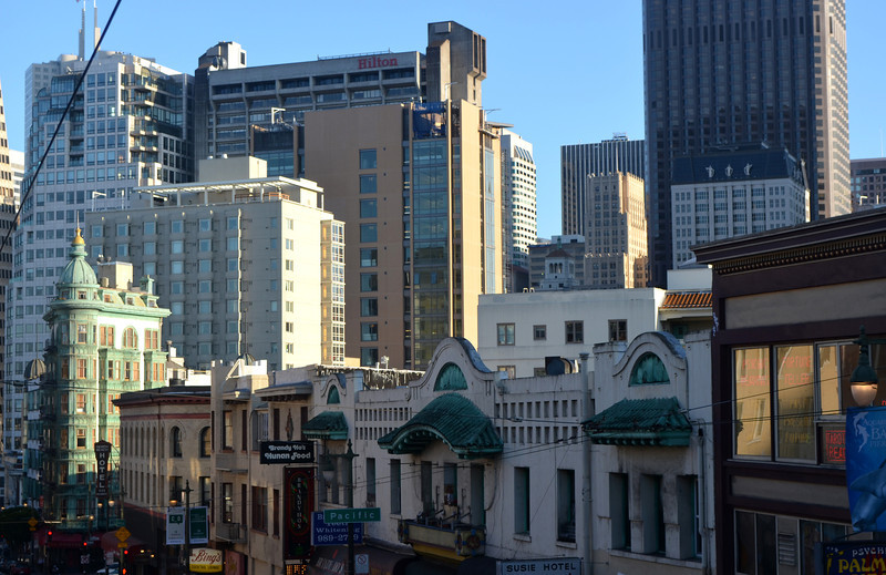 San Francisco with Old and New Architecture