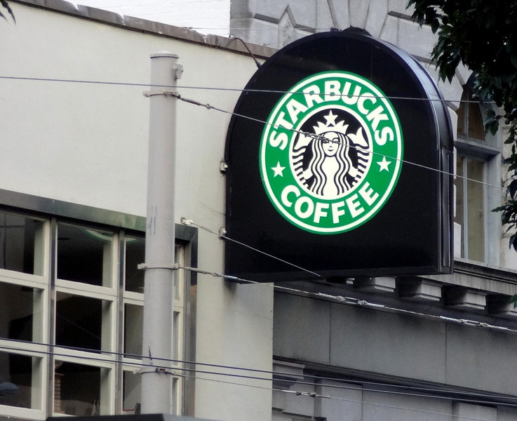 Starbucks Near Transamerica Building in San Francisco CA