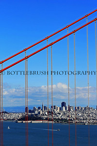 San Francisco through the Golden Gate Bridge.