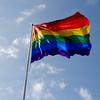 Rainbow Flag in Castro Neighborhoood in San Francisco CA