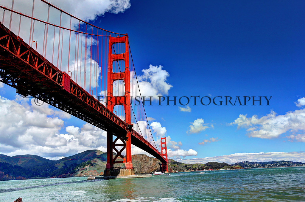 Golden Gate Bridge in San Francisco, California.