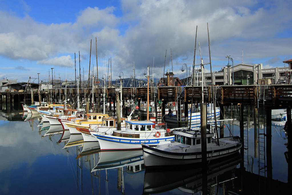 Fishing boats near Fishermans Warf, San Francisco.