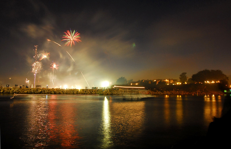 4th of July at Santa Cruz Harbor.