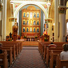 Inside St Francis Cathedral in Santa Fe New Mexico