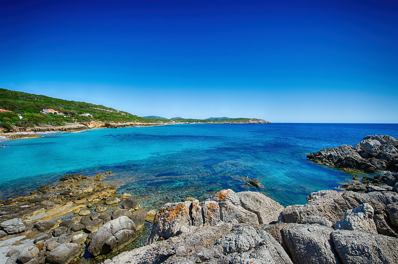 Sardinia, Italy. Spiaggia dei Francesi, near Porto Pino on the southwest coast of the island.