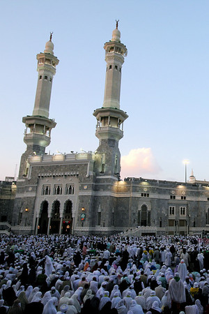 Courtyard before prayer - Masjid Al-Haram, Makkah