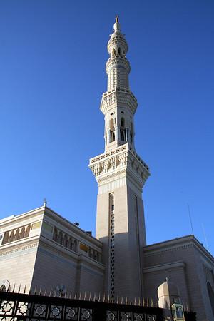 Minaret in late afternoon - Prophet's Mosque, Medinah