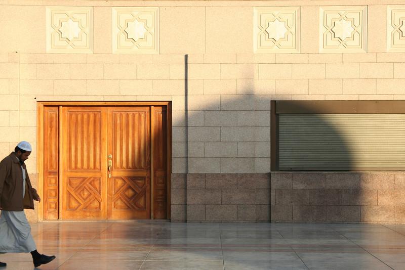 Shadow of the green dome, Prophet's Mosque – Medinah, Saudi Arabia