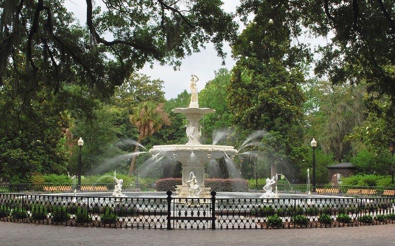 Forsythe Fountain - Forsythe Park<br /> Savannah, Ga.