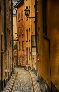 A Side Street in Stockholm