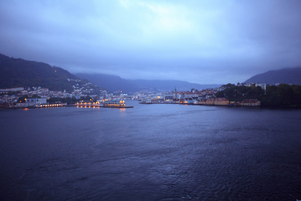 Bergen, Norway at dusk