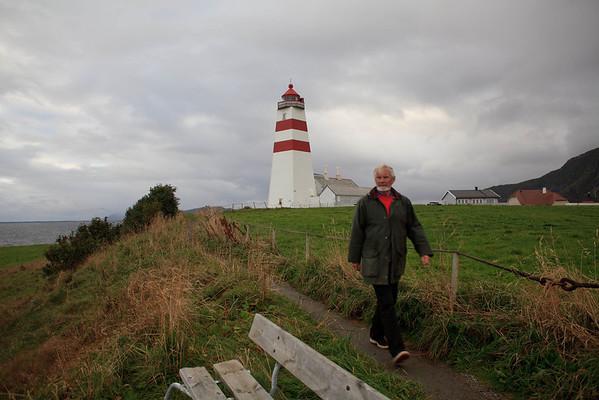 Local walking near lighthouse.