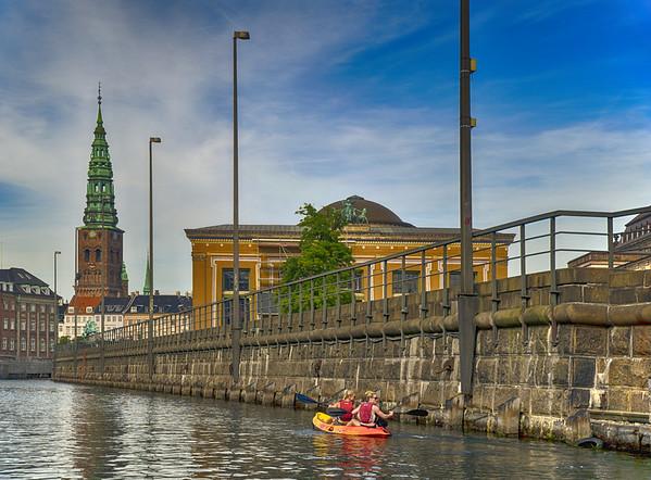 Canal Kayaking in Copenhagen