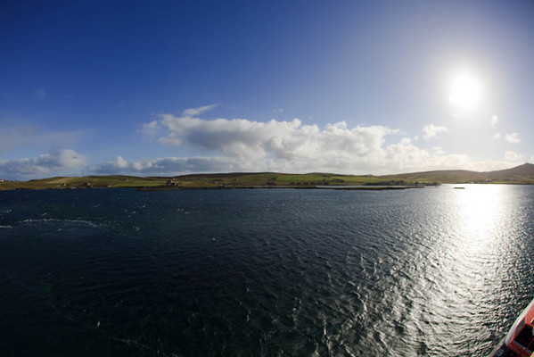 Fisheye view of the coastline.