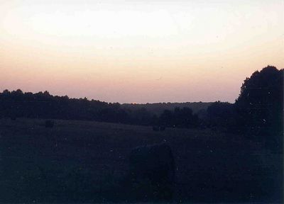 Sunset, July of 1992, Taken with Canon T70, Kodak film, Scanned from print