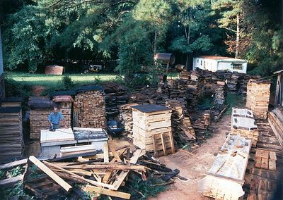 Daddy and Pallet operation, 1992, Taken with Canon T70, Kodak film, Scanned from print