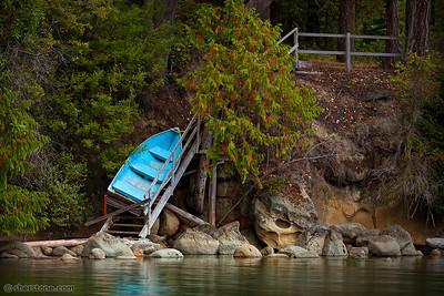 Blocked Blue Boat