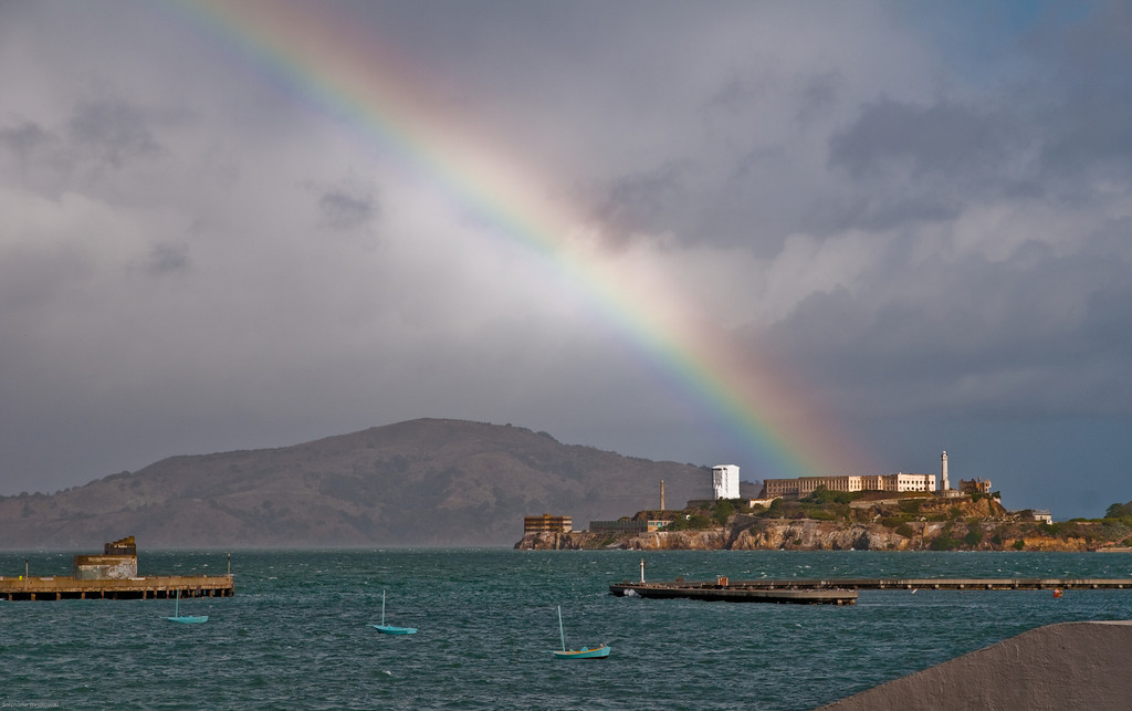 Alcatraz rainbow, San Francisco