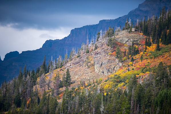 A mountain view at Glacier National Park