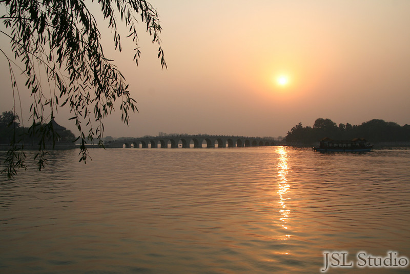 Sunset at Imperial Summer Palace. Beijing, China
