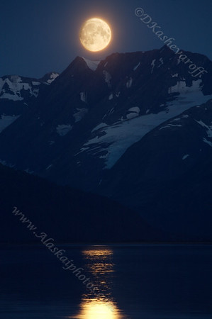 Moon over Turnagain