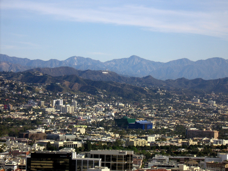 If you squint, you'll see the famous Hollywood sign.