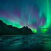 Vestrahorn with Northern Lights