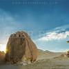 Sunrays in the desert